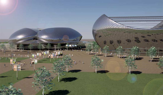 Jimmy Connors Tennis Center - стадион-теннисный мяч от лондонских архитекторов в ОАЭ