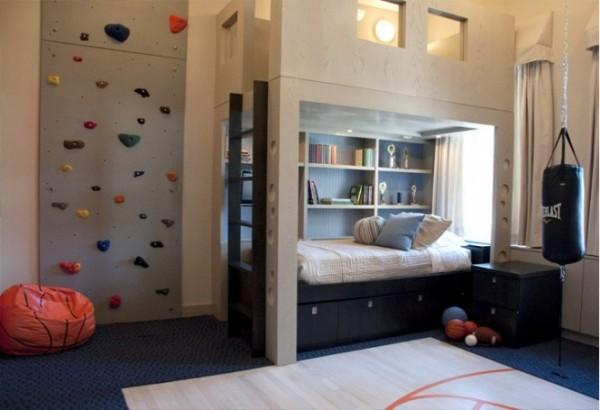 Креативный и эргономичный детский лофт для двух братьев