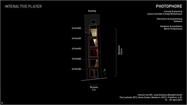 Kollision Photophore – световая инсталляция, управляемая смартфоном