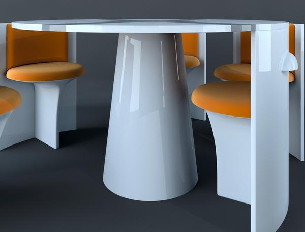 LOCAL dining group - нновационный концепт мебели от Владимира Томилова (Vladimir Tomilov)