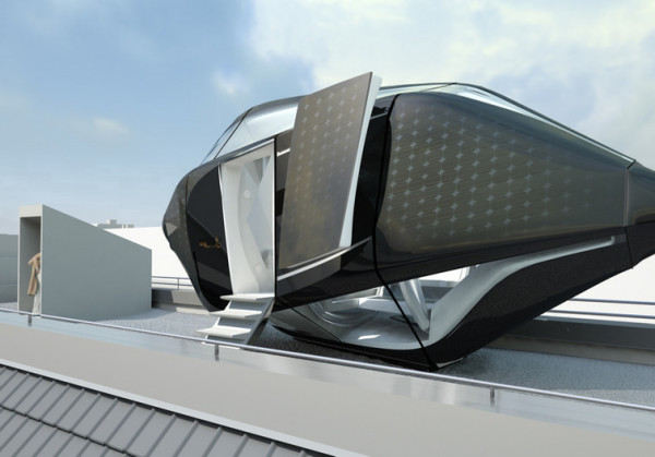Мобильный отель-капсула Living Roof от Nau architects