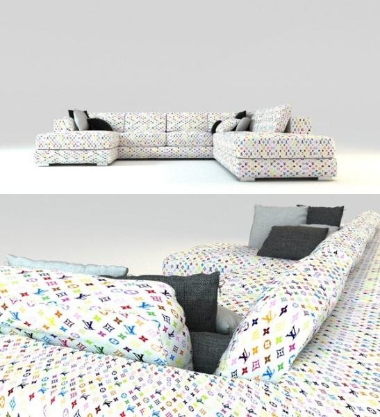 диван Louis Vuitton Sofas от дизайнера Джейсона Филипса (Jason Phillips)