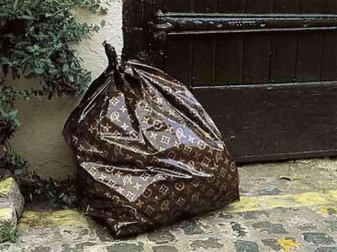 Мешок для мусора в стиле Louis Vuitton