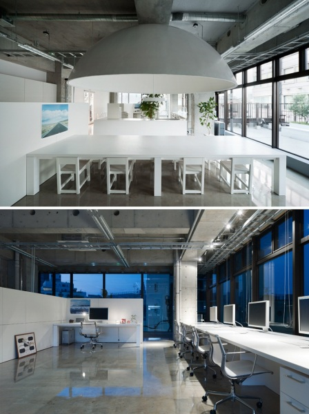Интерьер офиса MR Design Office от Schemata Architecture Office в Японии