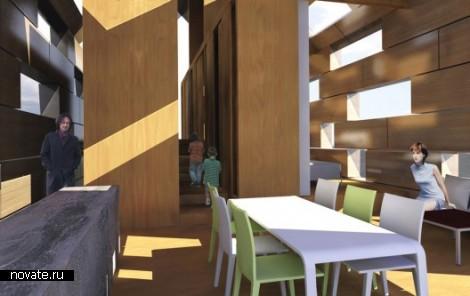 Проект Maison Eco-rce. Деревянный дом-мираж
