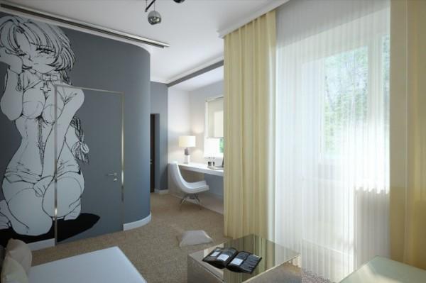 Два разных стиля для одной комнаты
