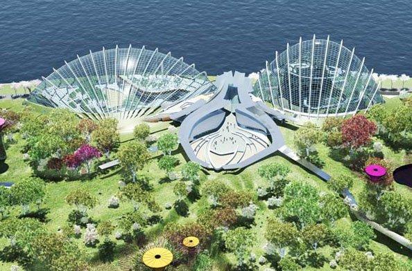 Проект развития крупнейшей в мире зоны климат-контроля для Marina South (Сингапур)