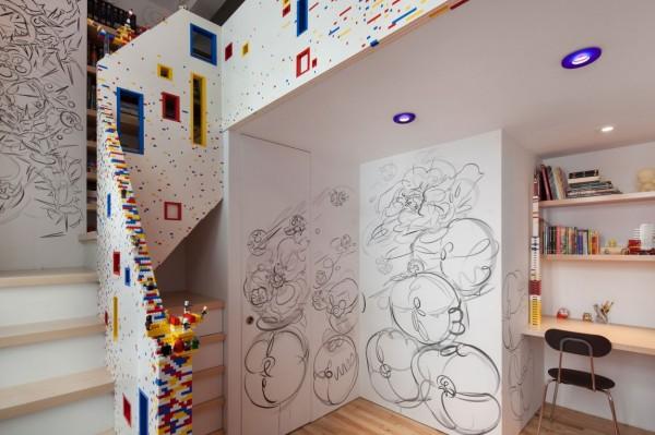 LEGO-лестница в современном манхэттенском лофте