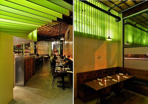 Интерьер калифорнийского ресторана Maximiliano Restaurant