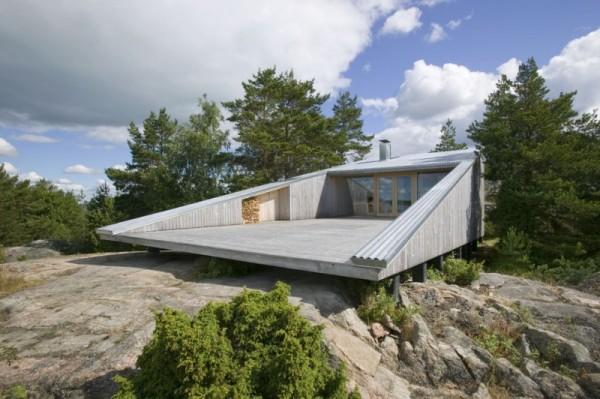 Вилла Mecklin – наскальная архитектура от финских архитекторов