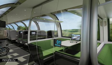 Проект высокоскоростного поезда Mercury от Priestmangoode