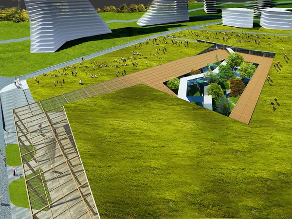 Культурно-торговый центр Varyap Merkez от Emre Arolat Architects в Турции