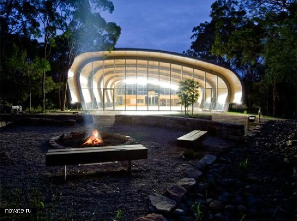 Стадион Milson Island Sports Stadium от Allen Jack + Cottier Architects в Австралии
