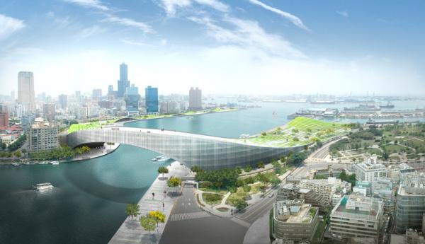 Проект многоцелевой инфраструктуры Moon Bridge от JAJA Architcts в Тайвне