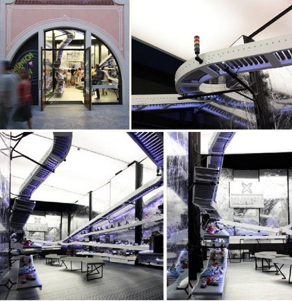 Бутик-«конвейер» Munich от Bailo+Rull ADD Arquitectura в Барселоне