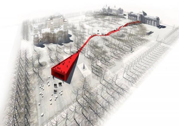 «Красная нить» реконструкции музея в Риге от NRJA