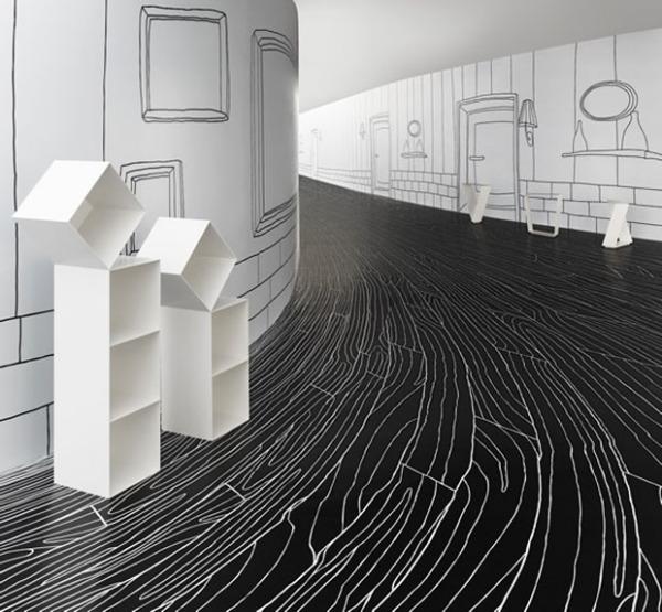 Концептуальный нтерьер выставки Nendo Solo show от Оки Сато (Oki Sato)