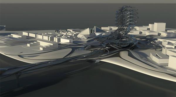 Nexus Media Center – футуристический культурный центр для ОАЭ от Michael Arellanes