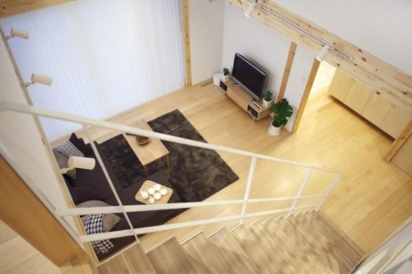 Открытая планировка современного японского дома