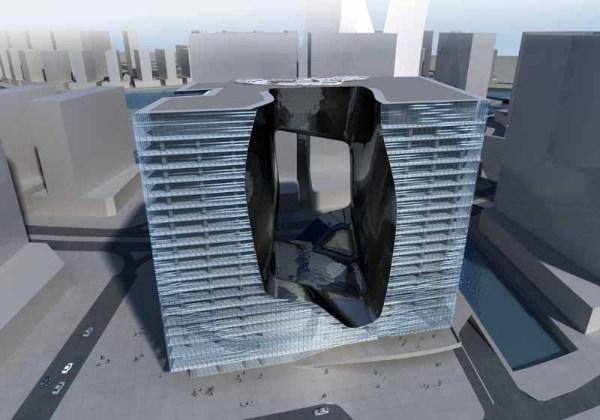 Футуристический проект многоцелевого комплекса Opus от Захи Хадид (Zaha Hadid)
