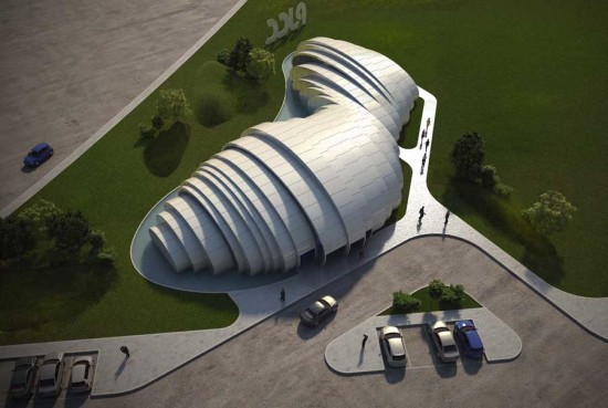 Алюминиевый сюрреализм от Studio Nicoletti Associati. Строительство разноцелевого комплекса POD Pavilion