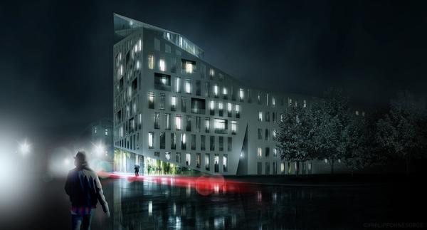 Инновационный проект многоквартирного жилого дома в «низкорослой»  Вене (Австрия)
