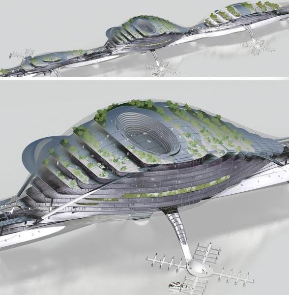 Многоцелевой мост будущего. Проект Paik Nam June Media Bridge от Planning Korea в Сеуле