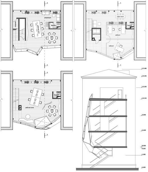 Проект офисной структуры Parasite Office от Za bor architects