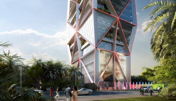 Проект многоцелевого центра Parinee Tower для Мумбаи от James Law Cybertecture