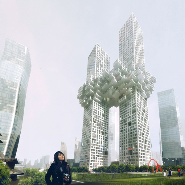 Pixelated Towers � ������ ����������� � ����� (�����) �� MVRDV