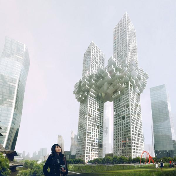 Pixelated Towers � ������ ����������� � ����� (�����) �� MVRDV