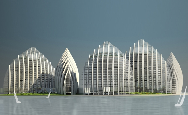 Проект жилого комплекса Putrajaya Waterfront Residential Towers от Studio Nicoletti Associati