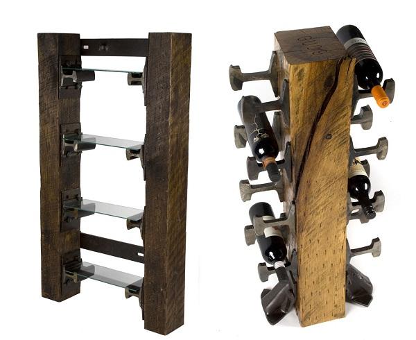 Креативная мебель из железнодорожных рельсов от Rail Yard Studios
