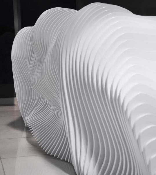 Футуристическая рецепция для компании Prestige Group от киприотских архитекторов