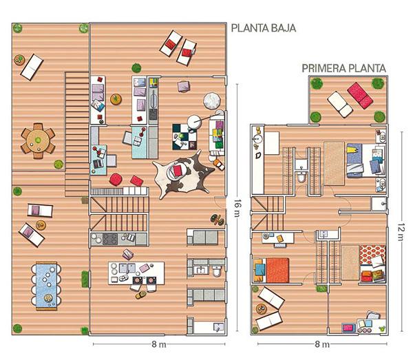 Интерьеры преобразованной виллы в Барселоне от 05 AM Arquitectura