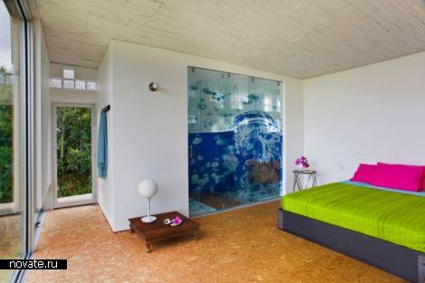 Santa Elena - вилла для жизни и медитаций с главным фасадом на крыше в Колумбии