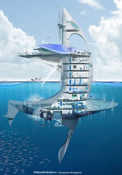 SeaOrbiter – первое в мире вертикальное судно