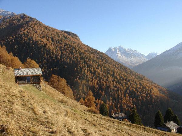 Shelter in the swiss alps - реконструкция от Personeni raffaele scharer architectes в Швейцарских Альпах