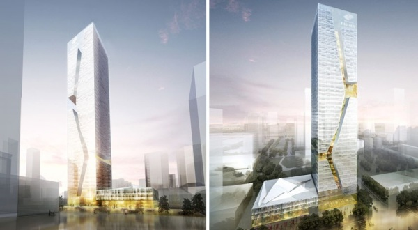 Проект небоскреба Shenzhen Guosen Securities Tower от Massimiliano and Doriana Fuksas в Китае