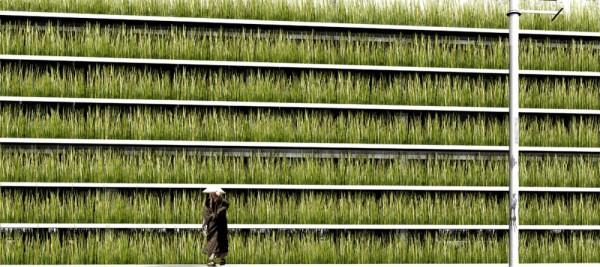 Зеленая паркинг-галерея Shinjuku Gardens