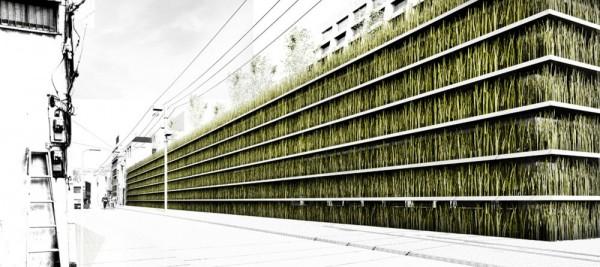 Зеленая паркинг-галерея Shinjuku Gardens. Эко-проект от Cheungvogl в Токио