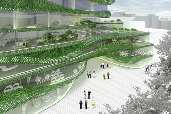 Зимой и летом разным цветом. Проект многоцелевого комплекса Shopping Pillow Terraces от OFIS arhitekti