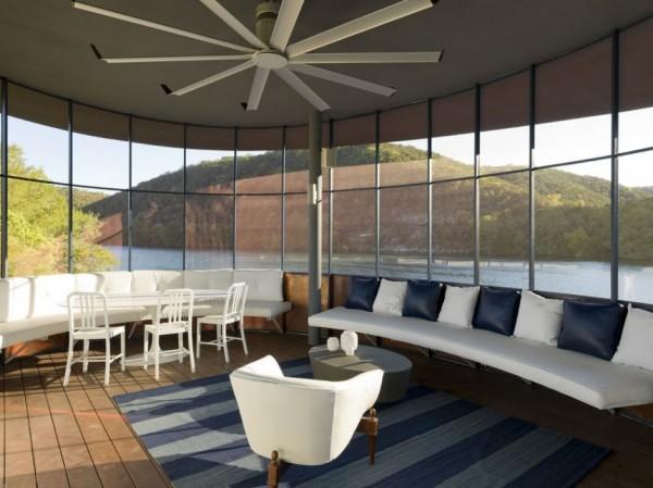 Shore Vista Boat Dock - дом с водопадом от Bercy Chen Studio