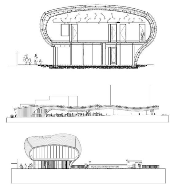 Plan Elevation Section Of Bus Stop : Автовокзал slough bus station корпоративный контрапункт