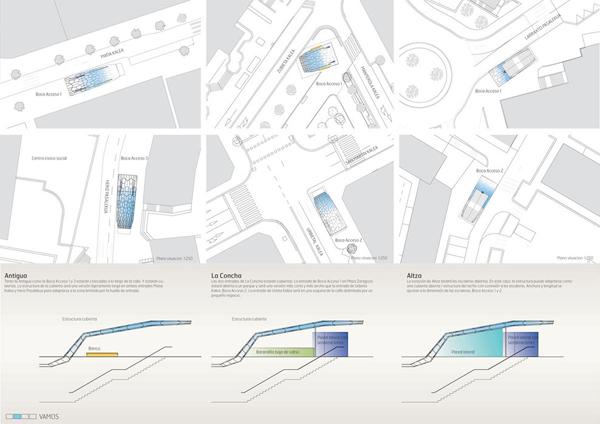 Vamos – футуристический проект входа в метро в Стране Басков от Snohetta