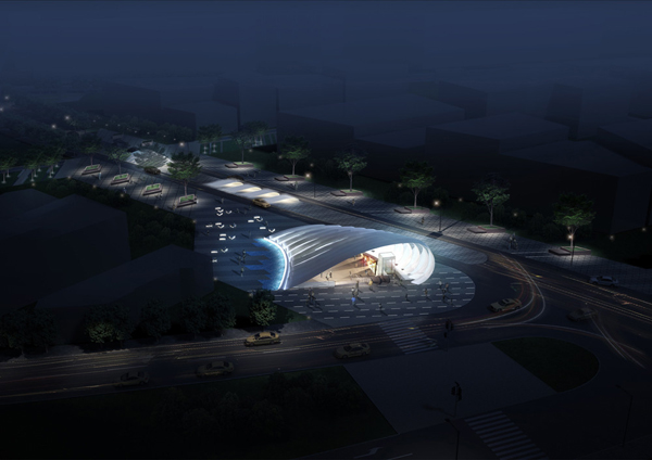 Metro Station 20 – многоцелевая станция метро от Peter Ruge Architekten