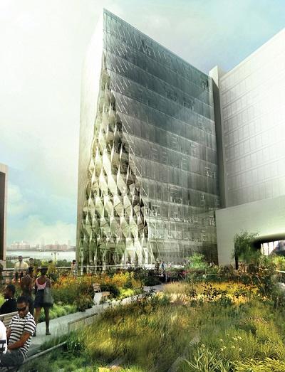 Проект офисного небоскреба Solar Carve Tower в Нью-Йорке