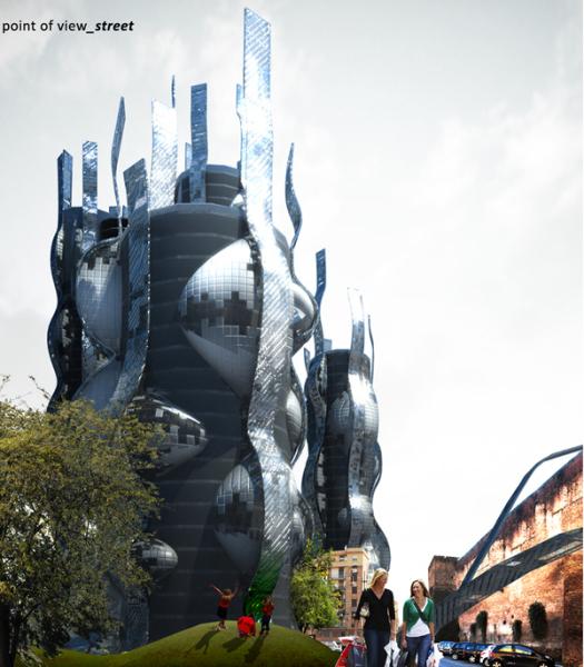 Футуристический проект многоцелевого комплекса Soundscape Towers в Риме