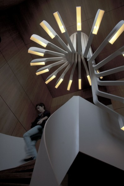 Spiral Staircase Lighting – лестница-светильник от .PSLAB