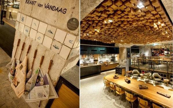 Новая креативная кофейня Starbucks в Амстердаме (Нидерланды)